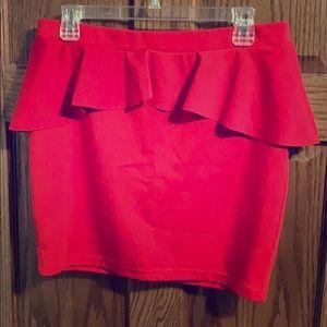 Large Candies Peplum Skirt